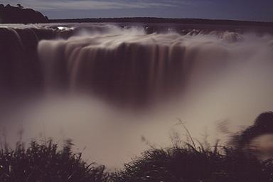 Garganta del Diablo at full moon, Iguazu Falls, Argentina