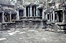 The inner courtyard of Angkor Wat's uppermost terrace