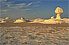Mushroom rock formation in White Desert