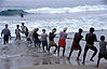 Tug-of-war against the brute force of the Arabian Sea, India