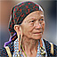 Kelabit woman wearing traditional earrings, Malaysia