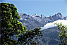 Mt. Kinabalu as seen from National Park HQ in the valley