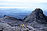 View of St. John's Peak and the valley from the top of Mt. Kinabalu