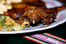 Cuy chactado (fried guinea pig) comes with all body parts, Peru