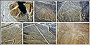 "The Nazca Lines are mysterious lines and shapes laboriously drawn over 500 sq km of desert: ""astronaut"", monkey, condor, spider, killer whale, hummingbird, Peru"