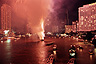 Fireworks during Loi Krathong